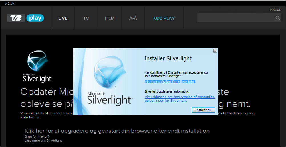 tv2 play silverlight