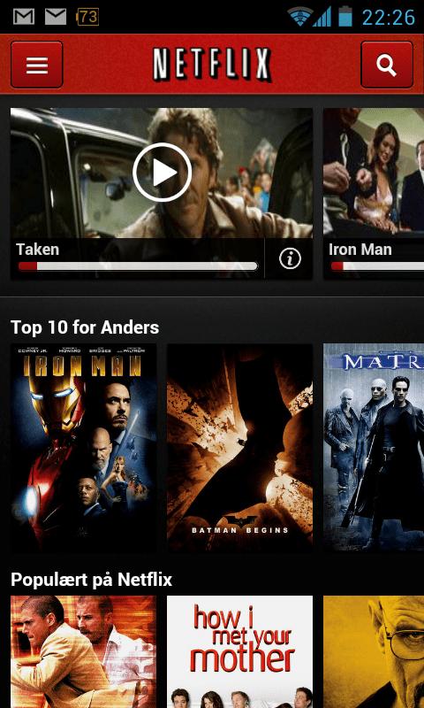 Netflix på android part1