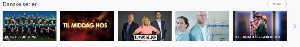 Danske serier på viaplay