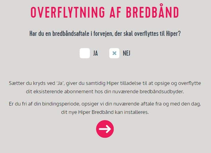 opsige bredbånd hiper
