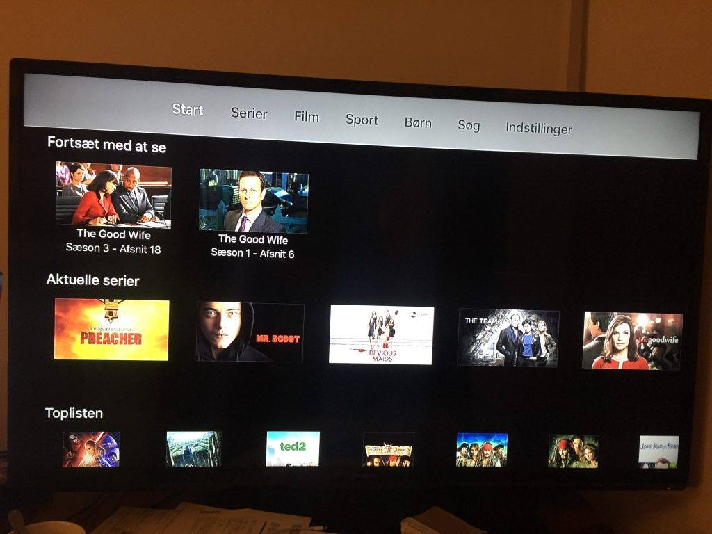start skærm apple tv